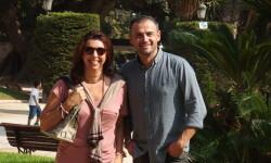 En la foto, Sonia Valero de Palma, gerente de Advanced Roads con Miguel Cuevas, jefe de producción.