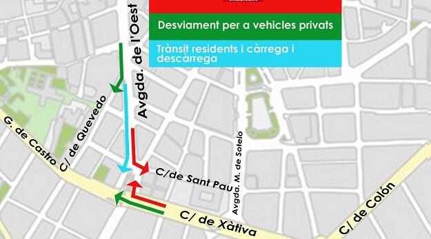 Giro EMT taxi Xàtiva av. Oest.