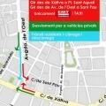 Los accesos desde Xàtiva a San Agustín y avenida del Oeste a San Pablo pasan a ser exclusivos para la EMT y taxi.