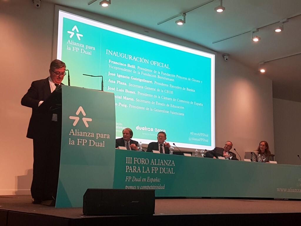 Marcial Marín anuncia un próximo convenio del MECD, Empleo, CEOE y Cámara de España para el desarrollo de la Formación Profesional