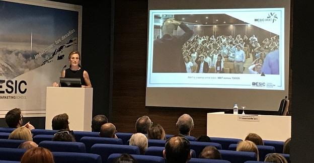 Maria Guijarro en el encuentro Centros Enseñanza ESIC.