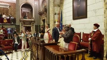Proclamación de las falleras mayores de Valencia 2018 Rocío Gil y Daniela Gómez (165)
