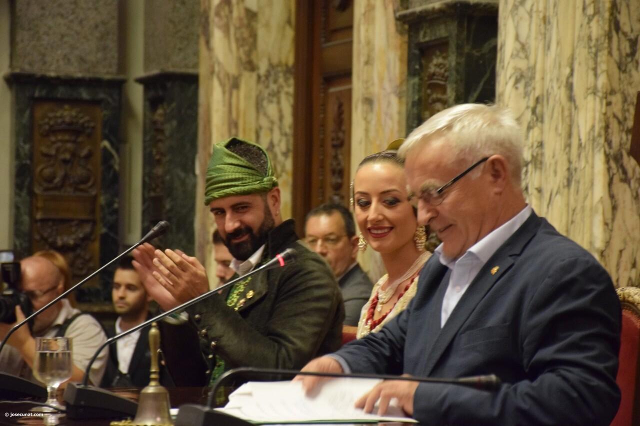 Proclamación de las falleras mayores de Valencia 2018 Rocío Gil y Daniela Gómez (560)