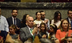 Proclamación de las falleras mayores de Valencia 2018 Rocío Gil y Daniela Gómez (594)