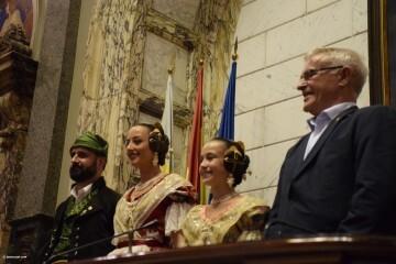 Proclamación de las falleras mayores de Valencia 2018 Rocío Gil y Daniela Gómez (607)