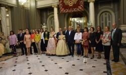 Proclamación de las falleras mayores de Valencia 2018 Rocío Gil y Daniela Gómez (700)