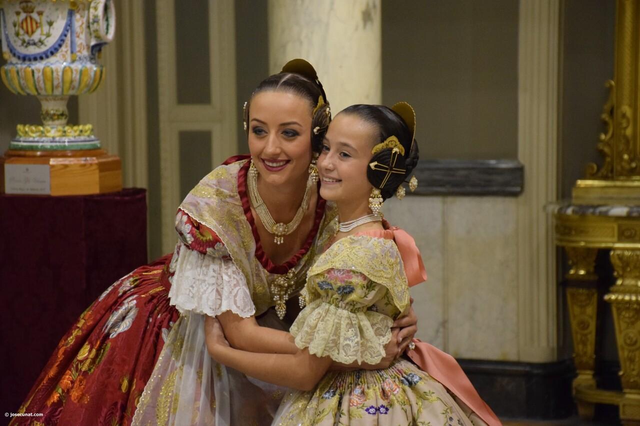 Proclamación de las falleras mayores de Valencia 2018 Rocío Gil y Daniela Gómez (721)