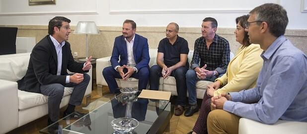 Reunión con alcaldes.