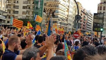 Una manifestación nacionalista del 9 de Octubre en Valencia con tensión (23) (Medium)