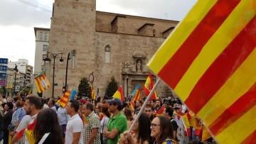 Una manifestación nacionalista del 9 de Octubre en Valencia con tensión (62) (Medium)