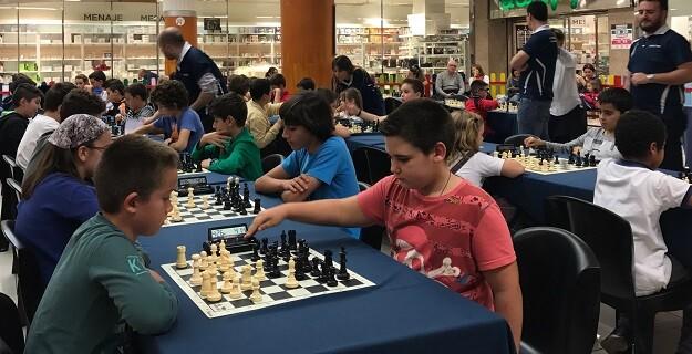 Zona de juego del torneo escolar de Nuevo Centro que se disputa los jueves.