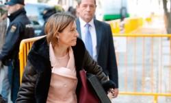 Carme Forcadell sale de prisión tras pagar una fianza de 150.000 euros.