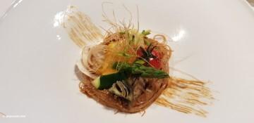 Ensalada de fideos de arroz, verduras de temporada y vinagreta de sésamo tostado Nou Raco20171123_151043 (4)