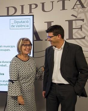 Jorge Rodríguez y la diputada Conxa Garcia.