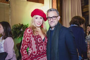Judith Mas y el diseñador Teo Garrido