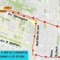 La Volta a Peu al Cabanyal restringe los estacionamientos en la avenida de los Naranjos.
