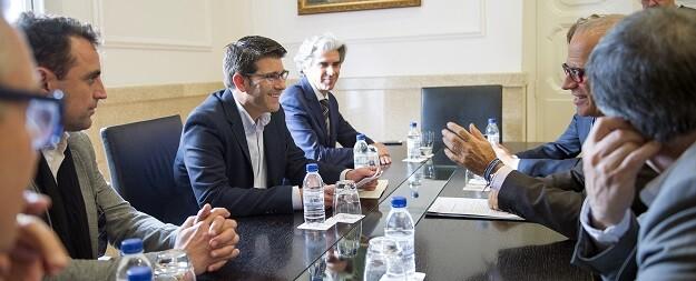 La nueva patronal industrial valenciana, Cofeindustria CV, ha acudido a la sede de la corporación para presentar sus iniciativas.
