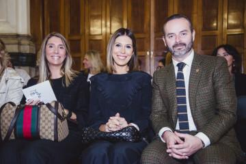 Mónica Fuero y Esperanza Ramón de Vericat junto a Fran Tochena