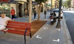 Movilidad regula el estacionamiento de motos y bicicletas en la reubarnización del Cabanyal.