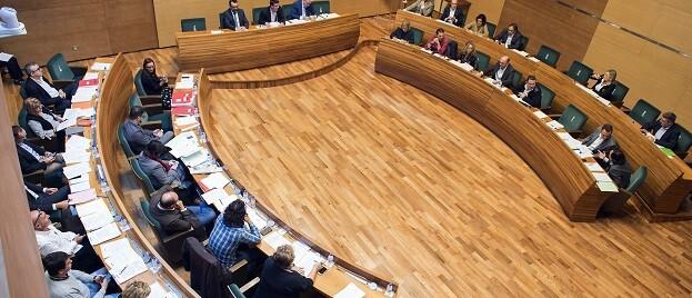 Pleno de la Diputación.