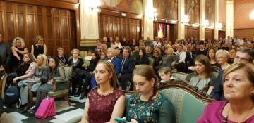 Proclamación de las FFMM 2018 de la falla Plaza de la Mercé comision (1) (Medium)