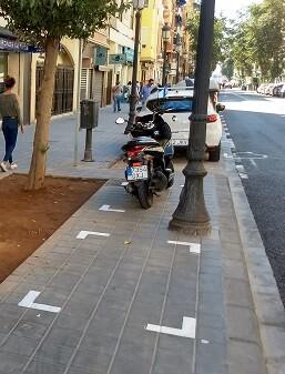 Regularización de motos en el Cabanyal.