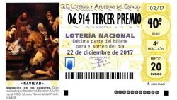 06.914 TERCER PREMIO LOTERIA DE NAVIDAD SORTEO 2017