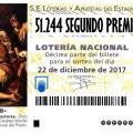51.244 SEGUNDO PREMIO LOTERIA NAVIDAD