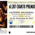 61.207 SEGUNDO CUARTO PREMIO LOTERIA NACIONAL