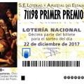 71198 es el número del Gordo de la Lotería de Navidad