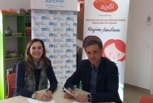 Aguas de Alicante y AODI firman un convenio de colaboración para la realización de la campaña 'Respirando en navidad' que lleva a cabo la asociación durante estas navidades 2017.