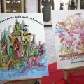 Bocetos de las fallas de Peu de La Creu
