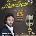 Manu Badenes este viernes 15 en losmonólogos de BIOPARC Café