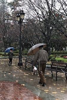 Fuertes lluvias por la borrasca.