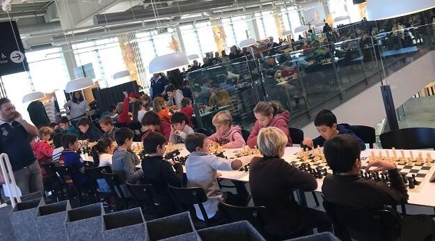 Instantánea de la zona de juego de la cafetería de Ikea.