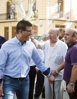 Jorge Rodríguez durante una de sus visitas a Xàtiva.