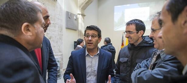 Jorge Rodríguez y el diputado de Carreteras, Pablo Seguí.