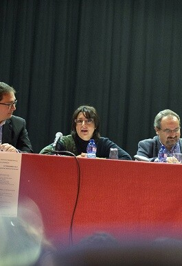 La diputada Rosa Pérez Garijo durante las jornadas en Castelló de Rugat.