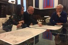 La reproducción del plano de València más antiguo, el de Manceli, recupera la memoria histórica de la ciudad.
