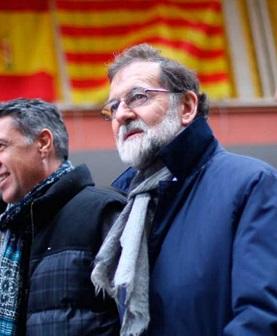 Rajoy en su visita a Cataluña.