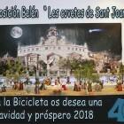 """Belén """"les covetes de Sant Joan"""" de la Falla Menendez y Pelayo F """"La bicicleta"""""""