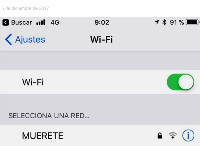 desagradable nombre de la red wifi en un hospital de leon muerete