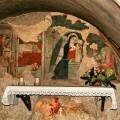 Gruta del Pesebre en Greccio (Lazio, Italia).