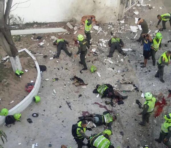 Atentado terrorista en Colombia sube a 5 la cifra de policías muertos Infobae