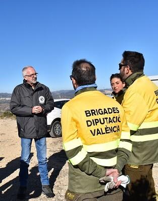 Brigadas forestales de la Diputación.
