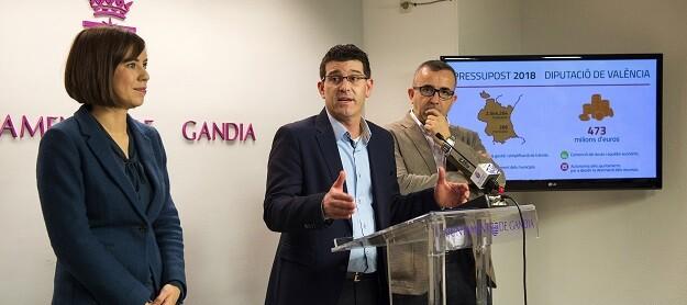 Diana Morant, Jorge Rodríguez y Voro Femenía.