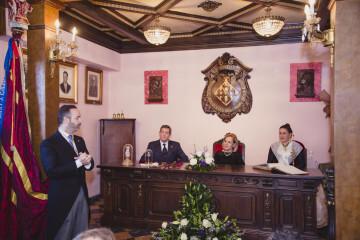 El Maestro Mayor del Gremio, Fran Tochena anuncia los nombramientos con Juan Carlos Pitarch, Amparo Fabra y María Hidalgo Zamora
