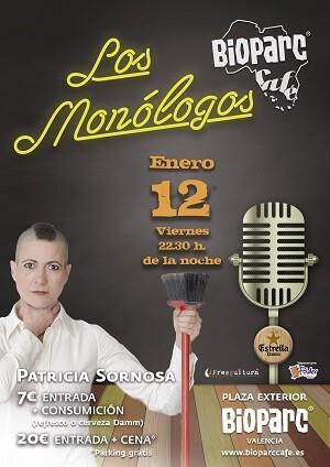 El restaurante de la plaza exterior de BIOPARC Valencia ofrece el primer Monólogo del año este viernes 12 de enero a las 22.30h.
