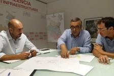 La Diputación inicia el proceso de mejora de la seguridad en la carretera entre Bellreguard y Almoines.