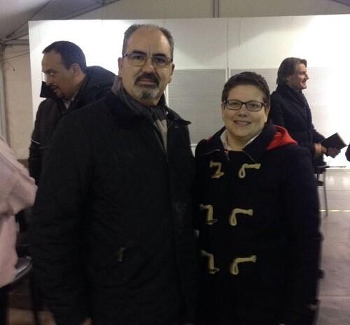 La Diputada Isabel García junto al presidente de la Federación Francisco Cuevas en la Feria.